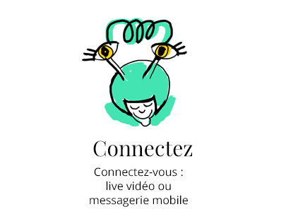 Illustration se connecter video chat